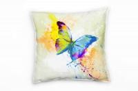 Schmetterling Deko Kissen Bezug 40x40cm für Couch Sofa Lounge Zierkissen