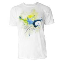 Fußball Torwart Sinus Art ® T-Shirt Crewneck Tee with Frontartwork
