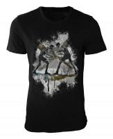 Ringen Damen und Herren T-Shirt schwarz / black