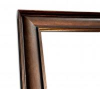 Industrial Chic schmal Rahmenleiste geprägte Oberfläche Bronze