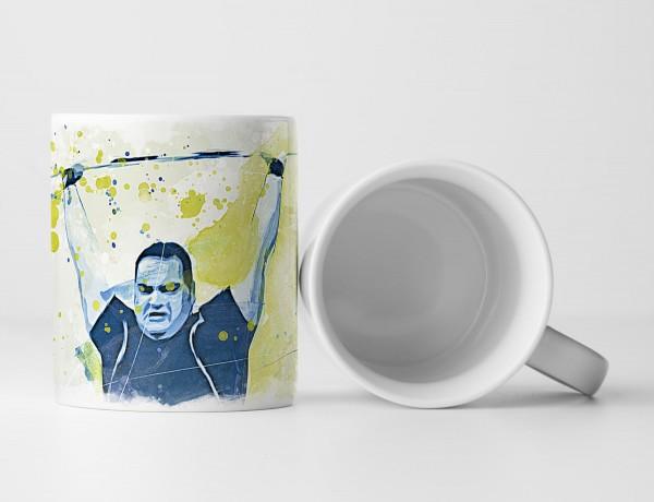 Gewichtheben Tasse als Geschenk, Design Sinus Art