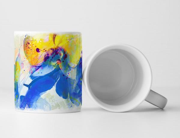 Blume VIII Tasse als Geschenk, Design Sinus Art