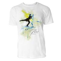 Eiskunstlauf Paar Sinus Art ® T-Shirt Crewneck Tee with Frontartwork