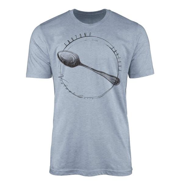 Vintage Herren T-Shirt Silberlöffel