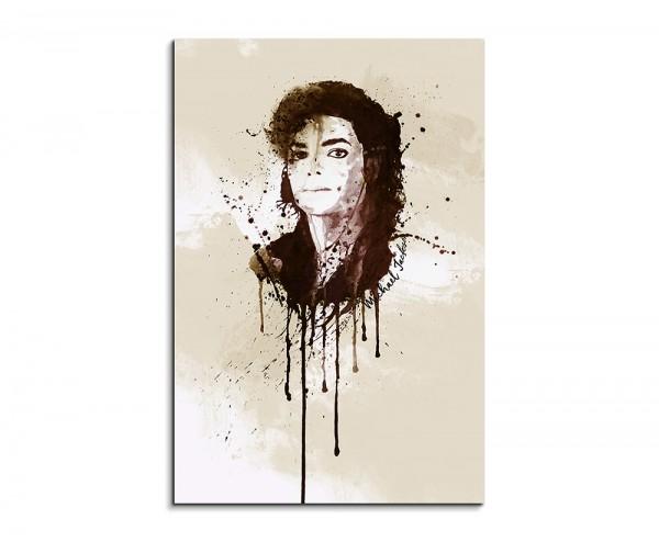 Michael Jackson 90x60cm Aquarell Art Wandbild auf Leinwand fertig gerahmt Original Sinus Art