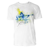 Biathlon Schuss im Liegen Sinus Art ® T-Shirt Crewneck Tee with Frontartwork