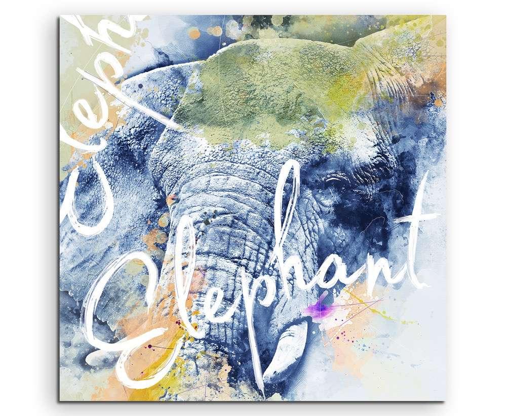 Wilde Elefant mit Kalligraphie | Sinus Art - Einzigartige Designs ...