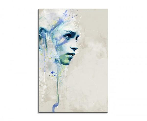 Game of-Thrones Khaleesi Aqua 90x60cm Wandbild Aquarell Art