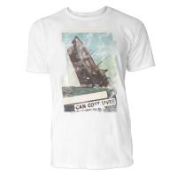 Sinking Ship Herren T-Shirts in Karibik blau Cooles Fun Shirt mit tollen Aufdruck