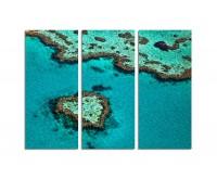 130x90cm Great Barrier Reef Riff Australien Herzform
