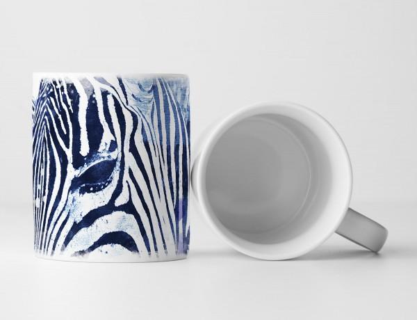 Zebra Tasse als Geschenk, Design Sinus Art