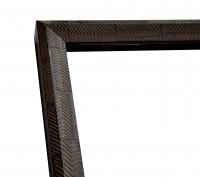 Rustikale Rahmenleiste hoch in dunkelbraun moderne Oberflächenverziehrung