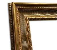Exklusiver Echtholzrahmen Antik gold Barock Stuck