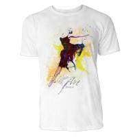 Ballerina im Sprung Sinus Art ® T-Shirt Crewneck Tee with Frontartwork