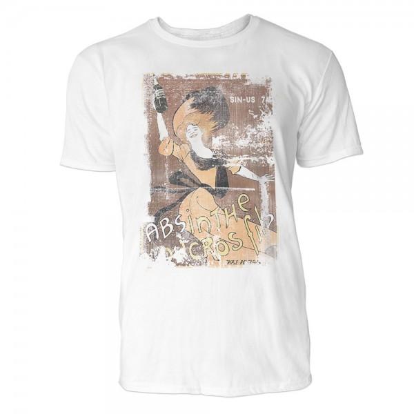 Absinth Herren T-Shirts in Karibik blau Cooles Fun Shirt mit tollen Aufdruck