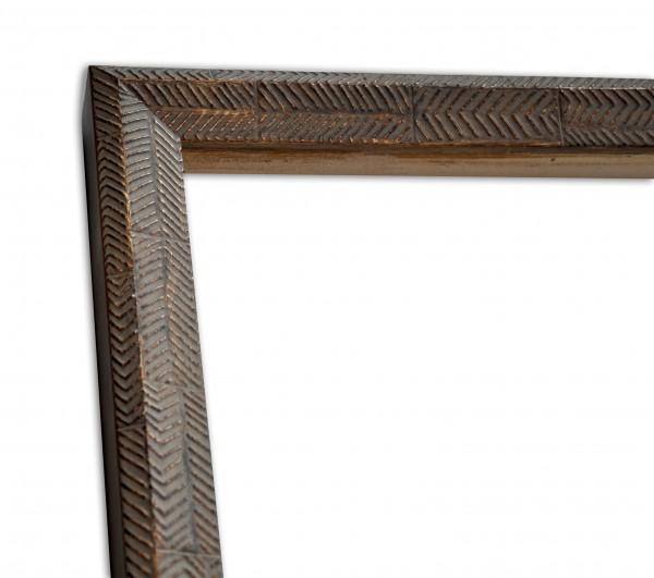 Rustikale Rahmenleiste hoch in hellbraun moderne Oberflächenverziehrung