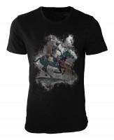 Polo Damen und Herren T-Shirt schwarz / black