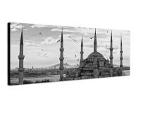 150x50cm Istanbul Moschee Sonnenuntergang Vögel