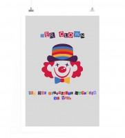Poster in 60x90cm - Der Clown ist die wichtigste Mahlzeit am Tag.