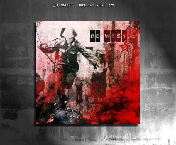 Go West 120 x 120 cm