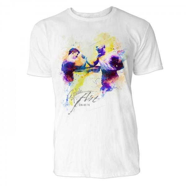 Armdrücken  Sinus Art ® T-Shirt Crewneck Tee with Frontartwork