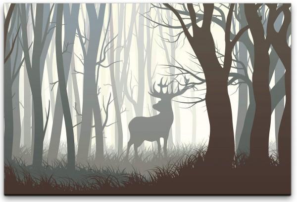 Rehbock in einem Wald Wandbild in verschiedenen Größen
