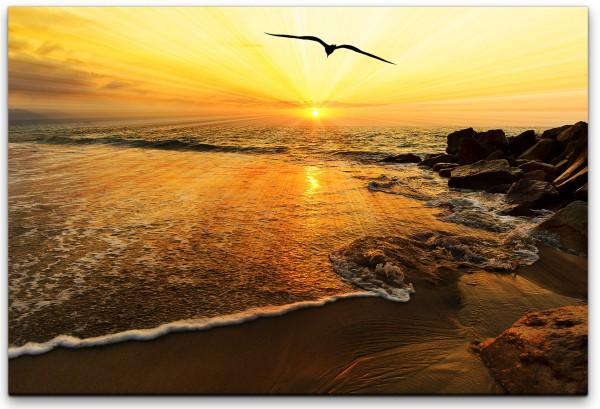 Sonnenuntergang Vogel Silhouette Wandbild in verschiedenen Größen