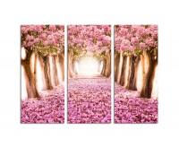 130x90cm romantische rosa Blüten Blütenmeer