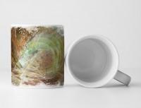 Tasse Geschenk Druckschrift und Spiralmuster