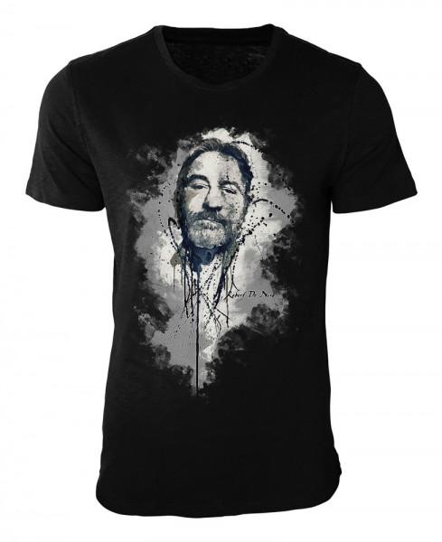 Robert De Niro Damen und Herren T-Shirt schwarz / black