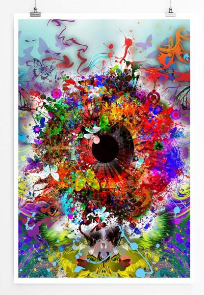 Digitale Grafik – Ornamentales Auge 60x90cm Poster