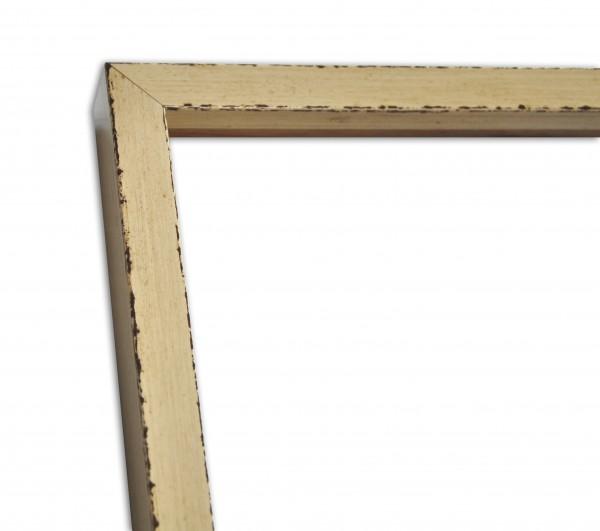 Moderne Rahmenleiste schmal Ivory Elfenbein