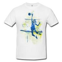 Volleyball Premium Herren und Damen T-Shirt Motiv aus Paul Sinus Aquarell
