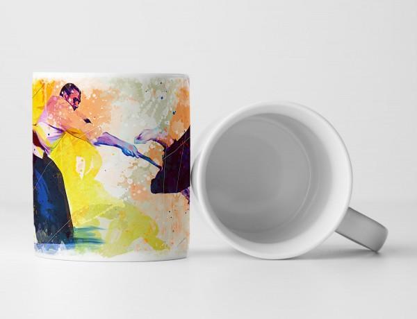 Aikido I Tasse als Geschenk, Design Sinus Art