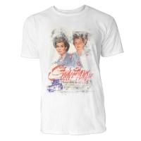 Twins Herren T-Shirts in Karibik blau Cooles Fun Shirt mit tollen Aufdruck