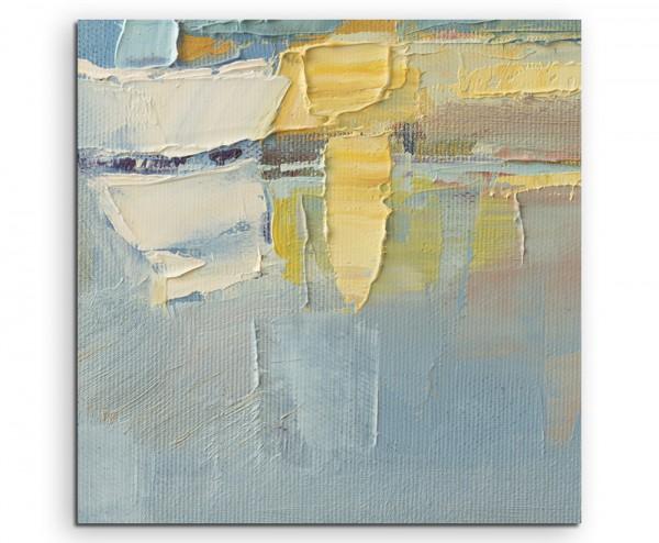 Abstraktes Pastellgemälde auf Leinwand