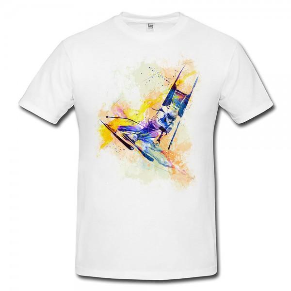 Ski Alpin III  Herren und Damen T-Shirt Sport Motiv aus Paul Sinus Aquarell
