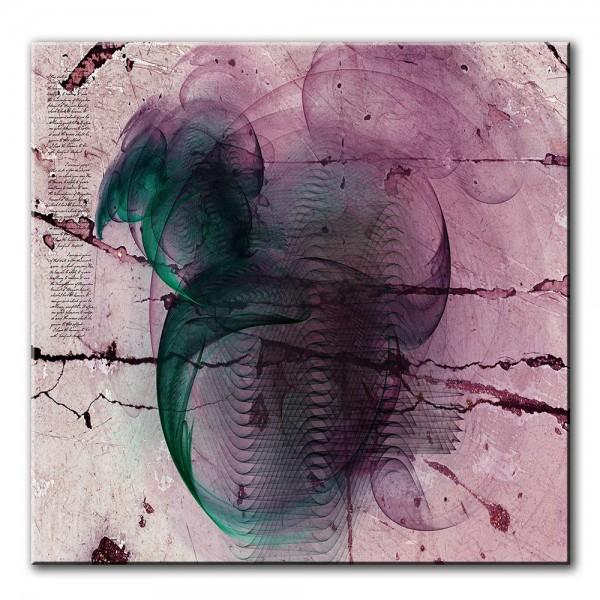 Dunkler Hauch, abstrakt, 60x60cm