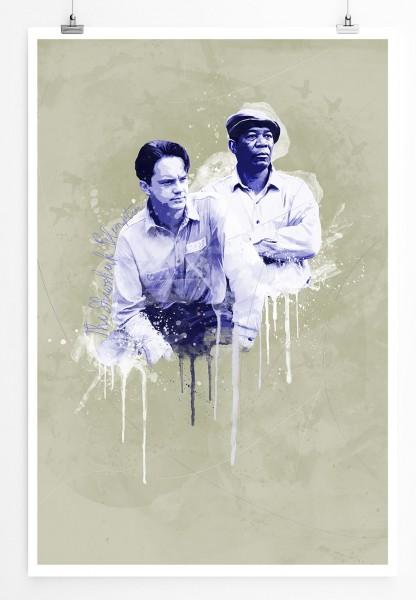 Die Verurteilten I 90x60cm Paul Sinus Art Splash Art Wandbild als Poster ohne Rahmen gerollt