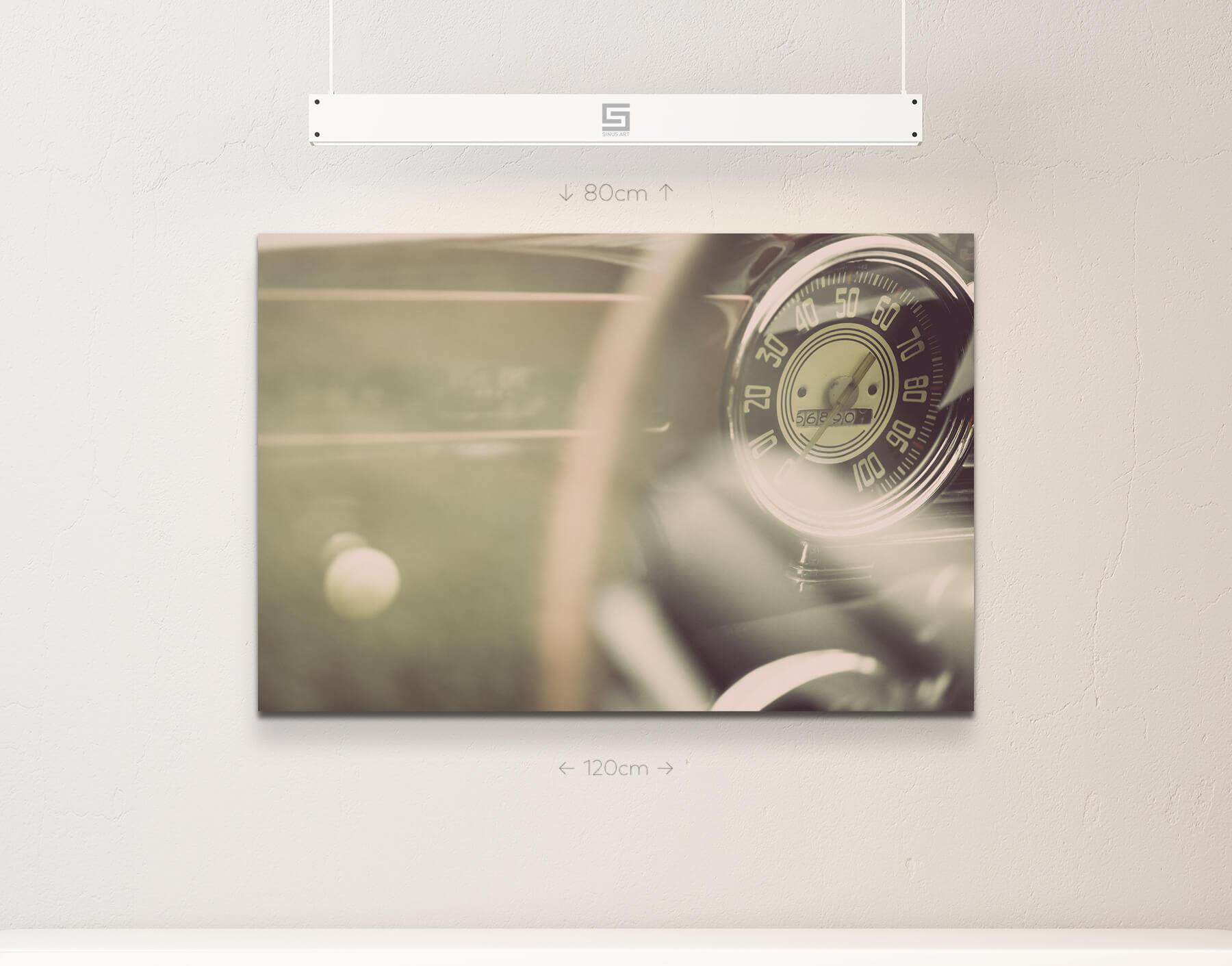 TACHOMETER di di di un auto vintage-tela 759d5f