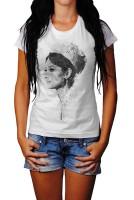Audrey Hepburn III Herren und Damen T-Shirt BLACK-WHITE