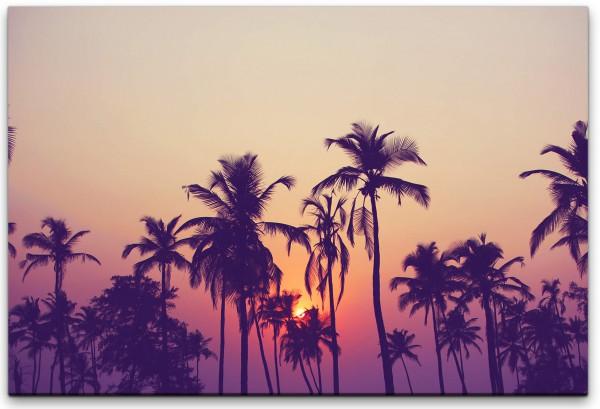 Silhouette von Palmen Wandbild in verschiedenen Größen