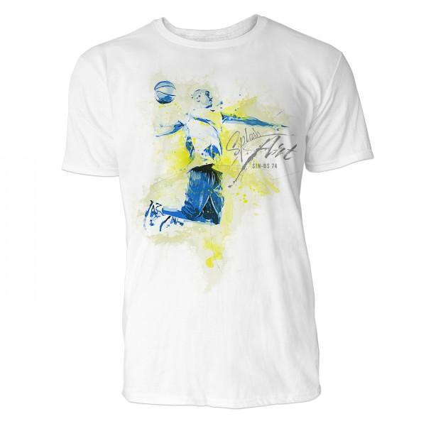 Basketball Manöver Sinus Art ® T-Shirt Crewneck Tee with Frontartwork