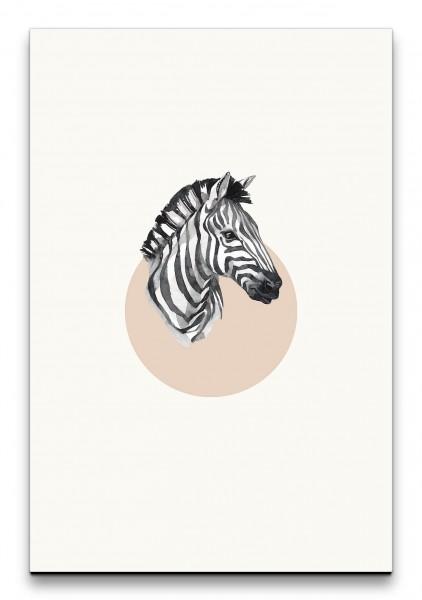 Zebra Porträt Aquarell Minimal Modern Savanne Dekorativ